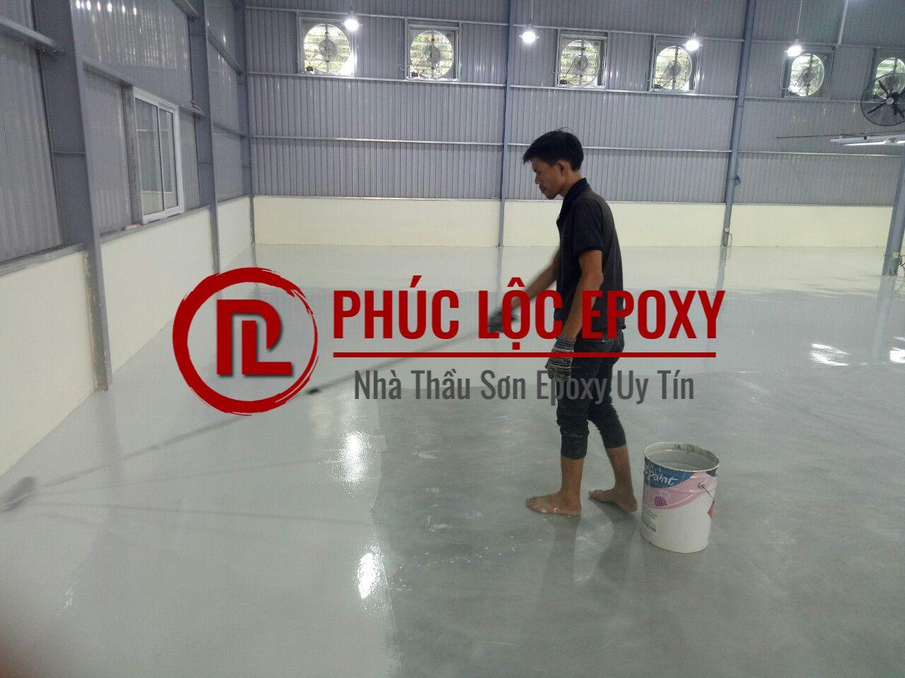 Thi công sơn nền sơn sàn epoxy tại Bắc Ninh 【9901】